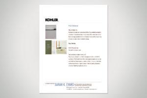 Kohler Co. Print Collateral