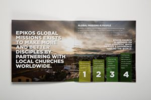 Epikos Church Global Missions inside of brochure